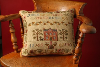 Acorns and Pansies Cushion