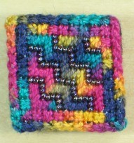 Beaded Zig Zag Brooch
