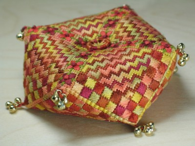 41. Autumn Zig-Zag Pincushion