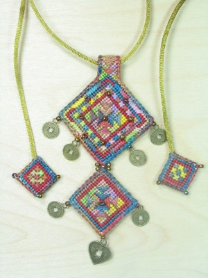 7. Agate Amulet Neck Piece