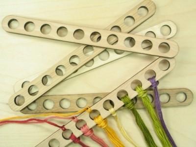 Straight Wooden Thread Holders