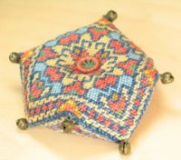 Magic Carpet Biscornu Pincushion - Sue Hawkins