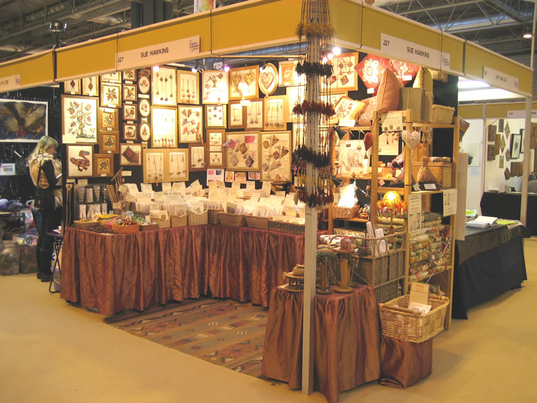 Sue Hawkins stand at a craft fair or show