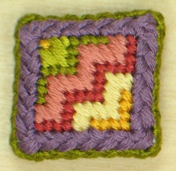 Tulip Zig Zag Covered Magnet Sue Hawkins