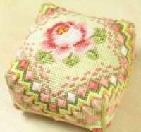 Damask Rose Pincushion - Sue Hawkins