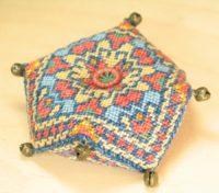 Magic Carpet Biscornu Pincushion - Sue Hawkins