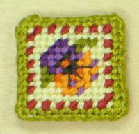 Moroccan Pansies Covered Magnet from Sue Hawkins